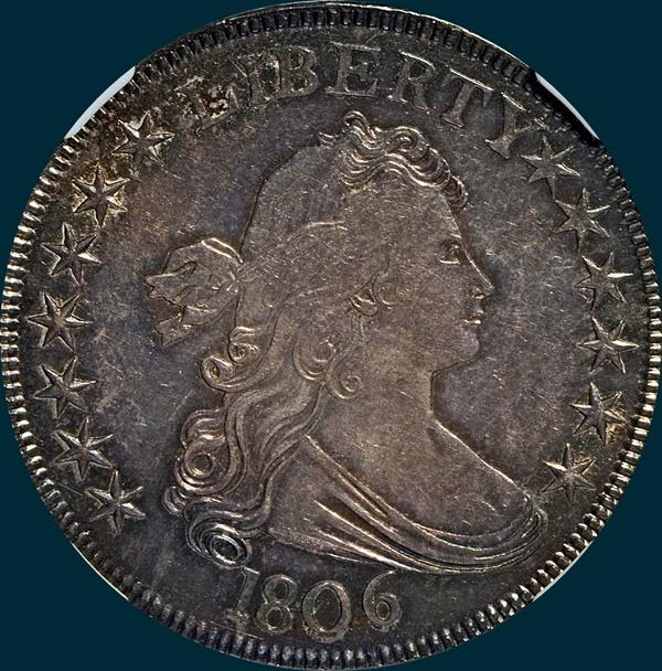 1806, O-118, Draped Bust, Half Dollar