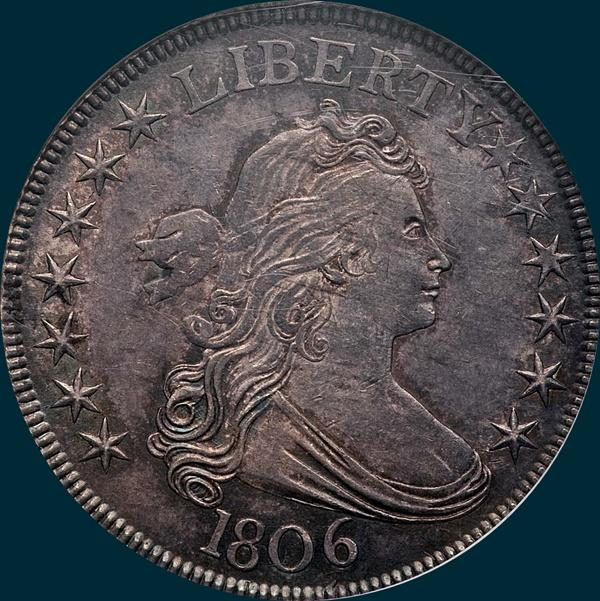 1806, O-118a, Draped Bust, Half Dollar