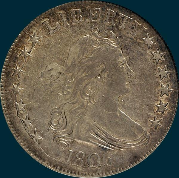 1806, O-117, Draped Bust, Half Dollar