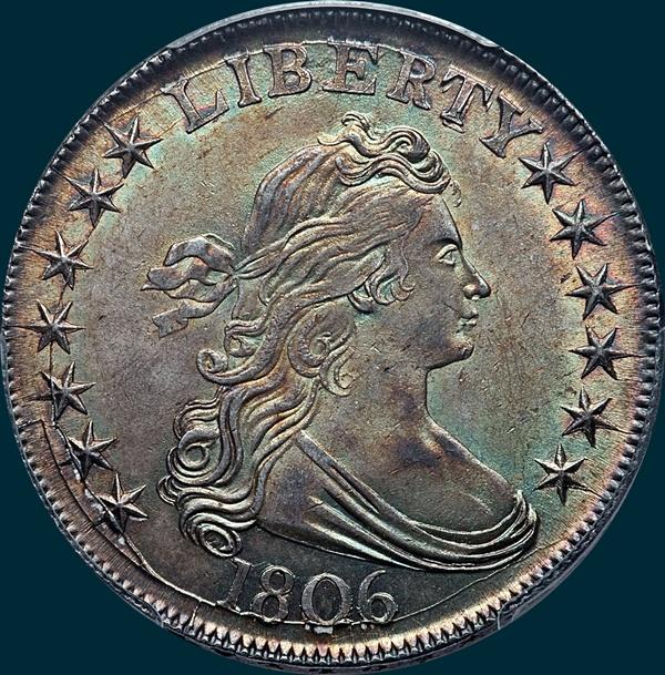 1806, O-116, Draped Bust, Half Dollar