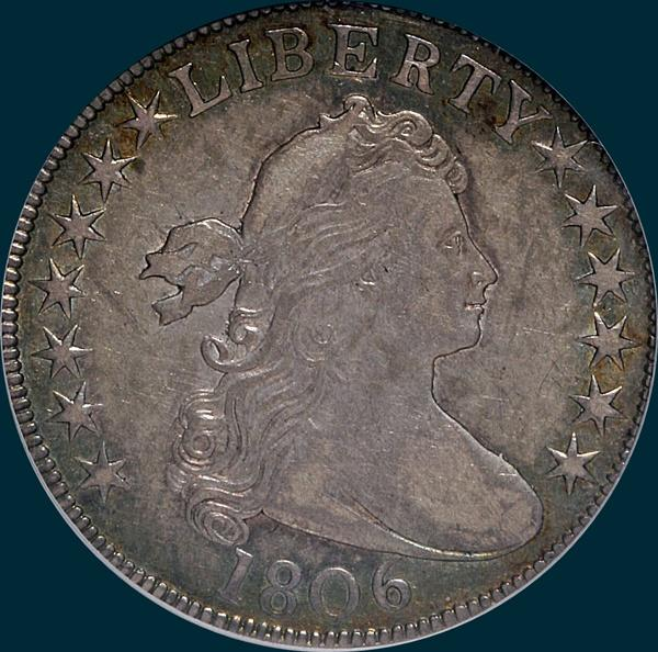 1806, O-113, Draped Bust, Half Dollar