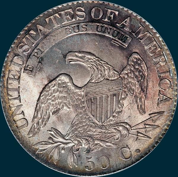 1825, O-105, Capped Bust, Half Dollar