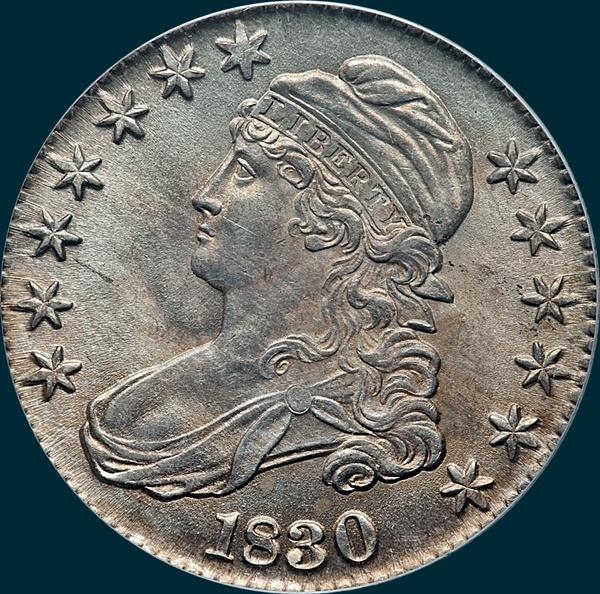 1830, O-120, Large 0, Capped Bust, Half Dollar