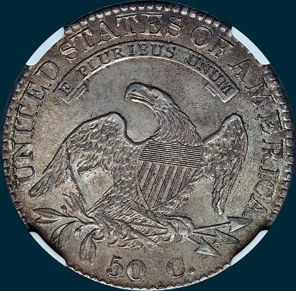 1832, O-101, Large Letters, Capped Bust, Half Dollar