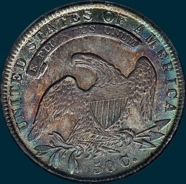 1836, O-115, Capped Bust, Half Dollar