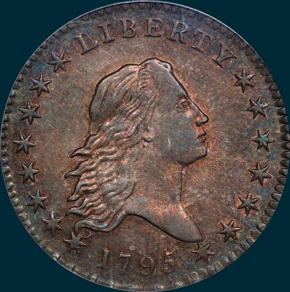 1795, O-125, Flowing Hair, Half Dollar