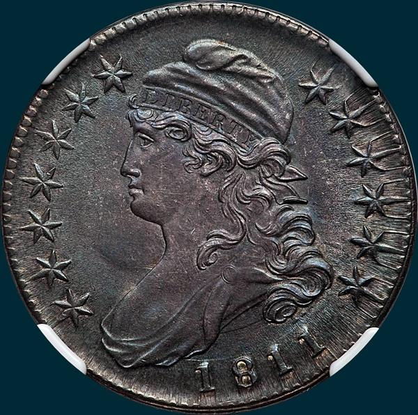 1811, O-111a, Small 8, Capped Bust, Half Dollar