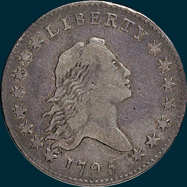 1795, O-123, Flowing Hair, Half Dollar
