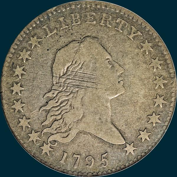 1795, O-123a, Flowing Hair, Half Dollar