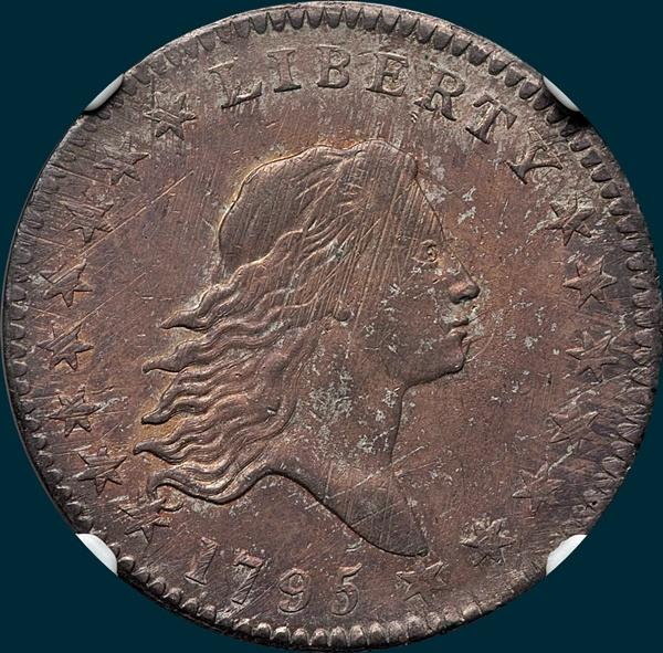 1795, O-124, Flowing Hair, Half Dollar