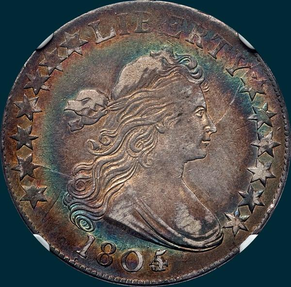1805/4, O-103, Draped Bust, Half dollar