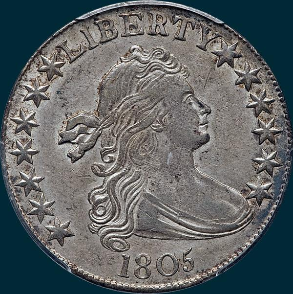 1805, O-109b, R7+, Draped Bust, Half Dollar