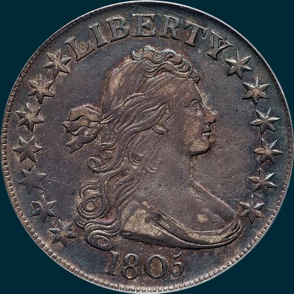 1805, O-110, R5, Draped Bust, Half Dollar