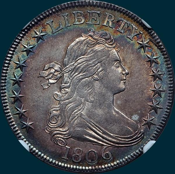 1806, O-123, Draped Bust, Half Dollar