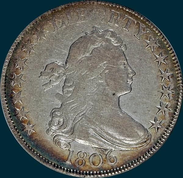 1806, O-130, Draped Bust, Half Dollar