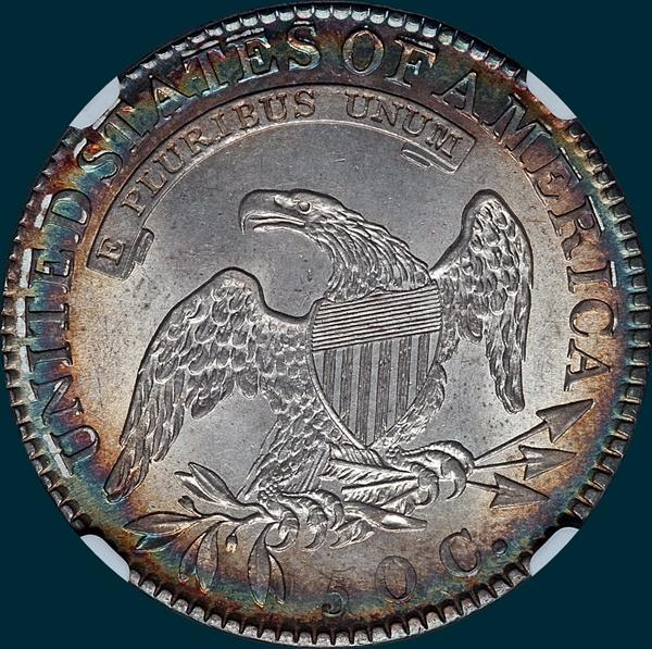 1818 O-109, capped bust half dollar