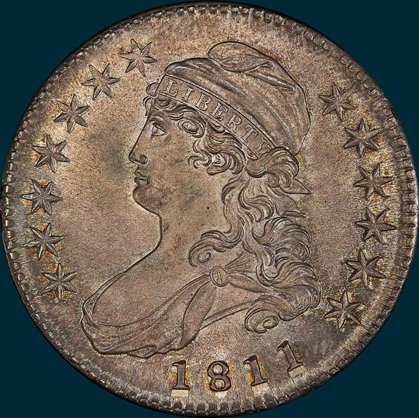 1811, O-108, Small 8, Capped Bust, Half Dollar