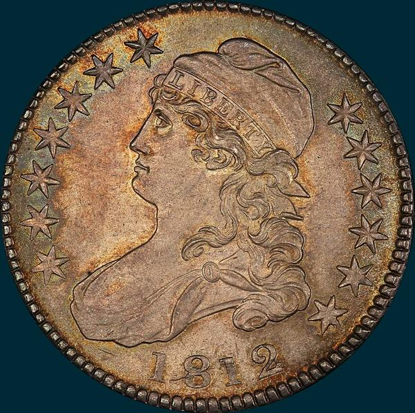 1812 o-110, capped bust half dollar