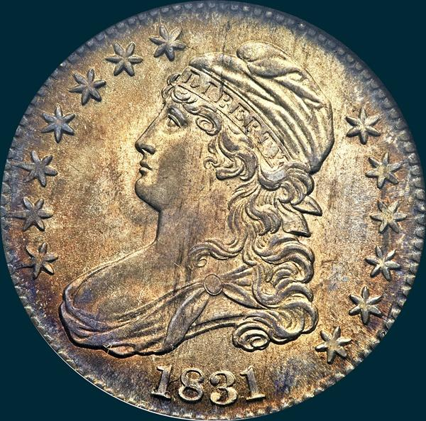 1831, O-112, Capped Bust, Half Dollar