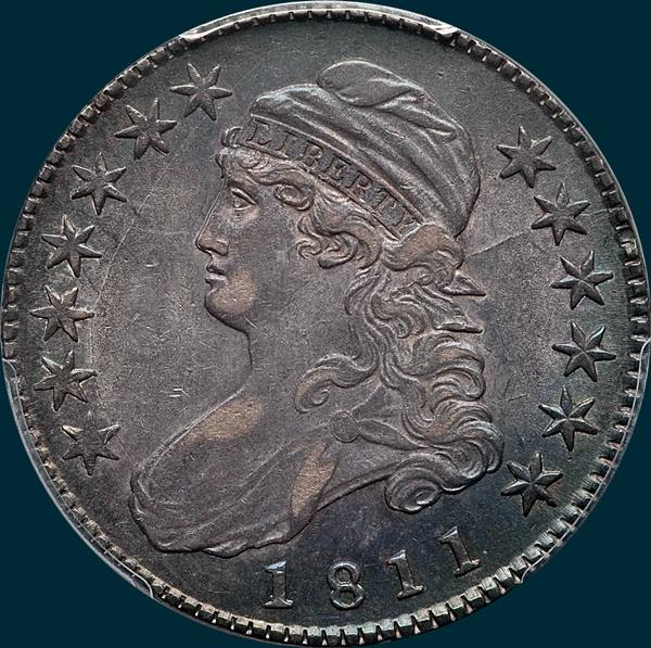 1811, O-112, Small 8, Capped Bust, Half Dollar