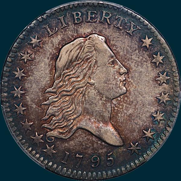 1795, O-102,  Flowing Hair, Half Dollar