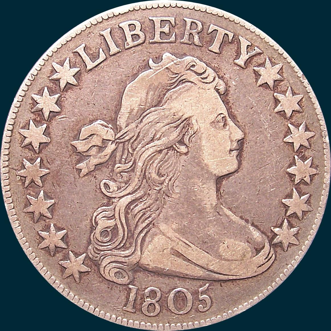 1805, O-112, Draped Bust, Half dollar