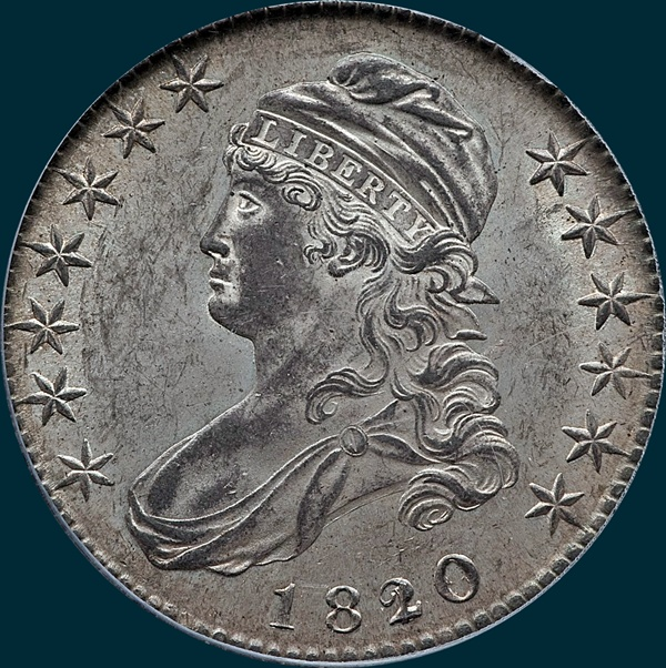 1820, O-101a, 20 over 19, Square Base 2, Capped Bust, Half Dollar