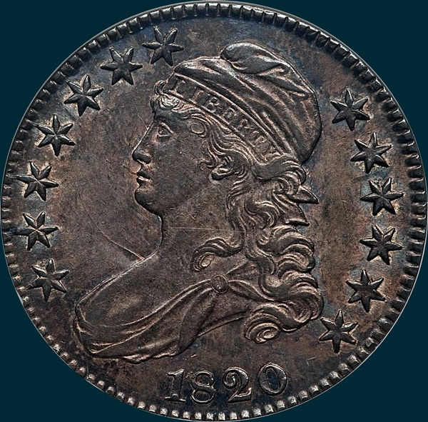 1820 O-106, Capped bust half dollar