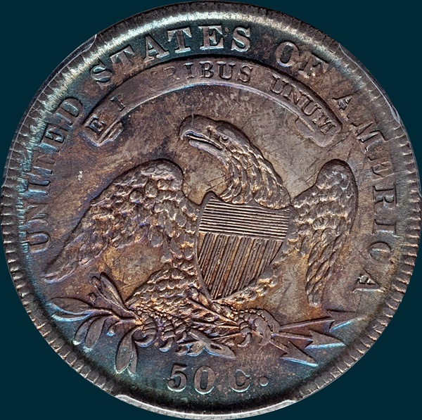 1834, O-114, Small Date, Small Letters, Capped Bust, Half Dollar