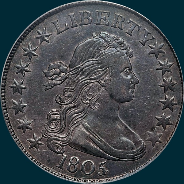 1805/4, O-102, Draped Bust, Half dollar