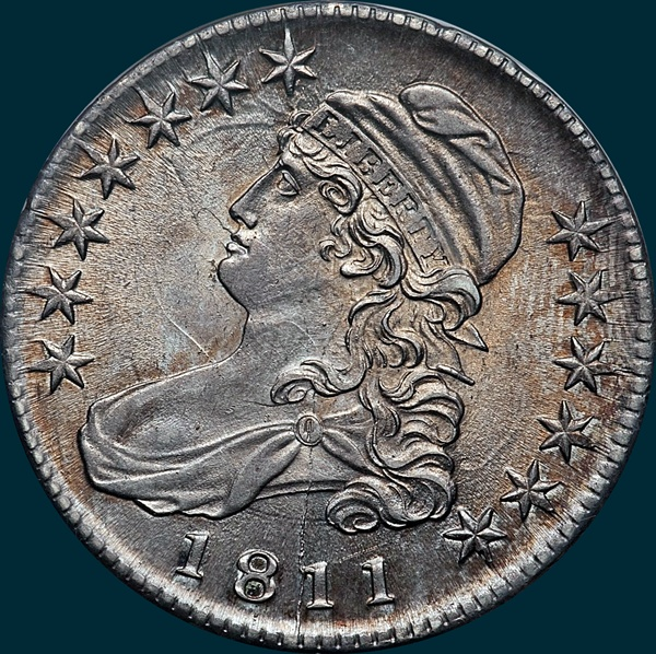 1811, O-103a, Large 8, Capped Bust, Half Dollar