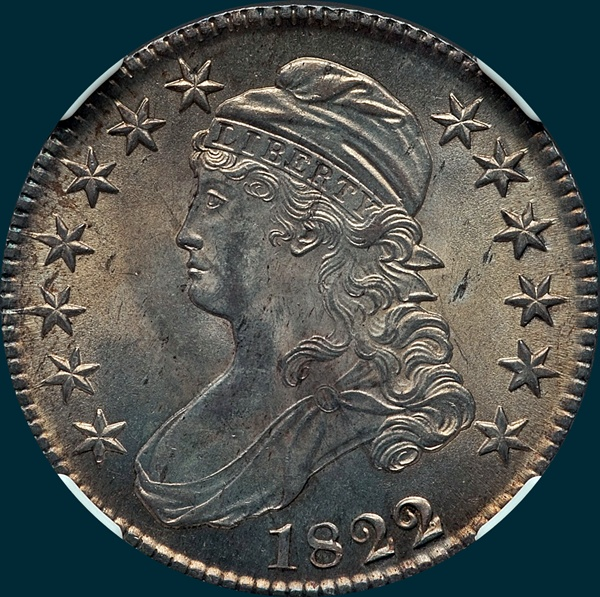 1822, O-101, (1822 over 1), Capped Bust, Half Dollar