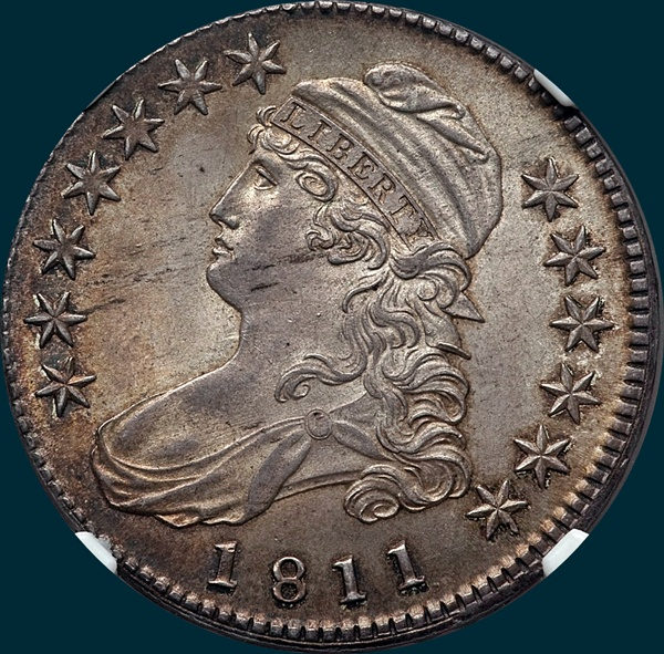 1811, O-110, Small 8, Capped Bust, Half Dollar