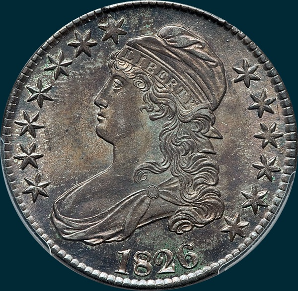 1826 O-106, capped bust half addict