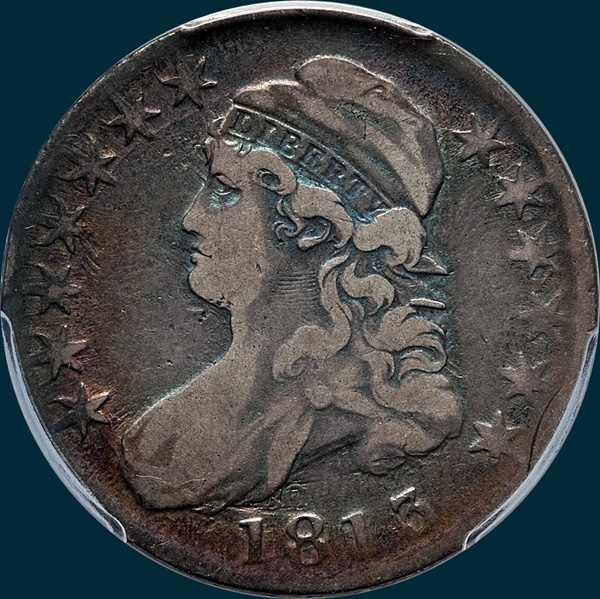 1813 O-109a, Single Leaf, Capped Bust Half Dollar