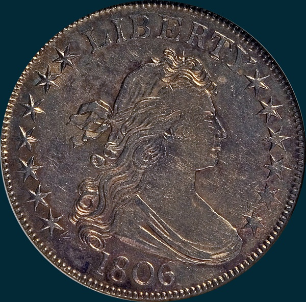 1806, O-115, Draped Bust, Half Dollar