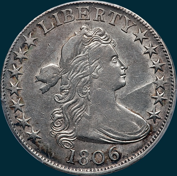 1806, O-112, Draped Bust, Half Dollar