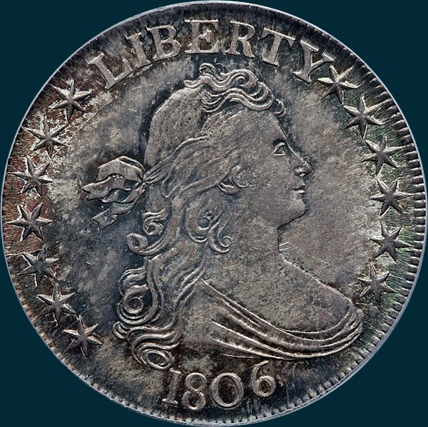 1806, O-120, Draped Bust, Half Dollar