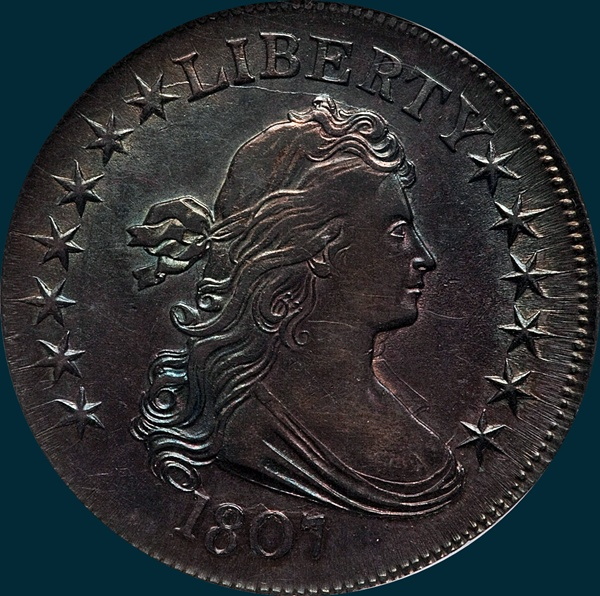 1807, O-103, Draped Bust, Half Dollar