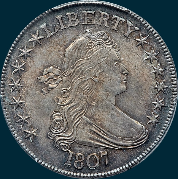 1807, O-105, Draped Bust, Half Dollar
