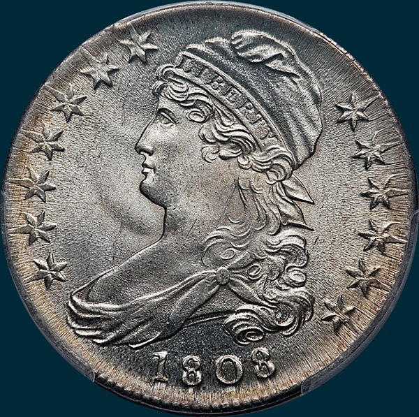 1808, O-103, Capped Bust, Half Dollar