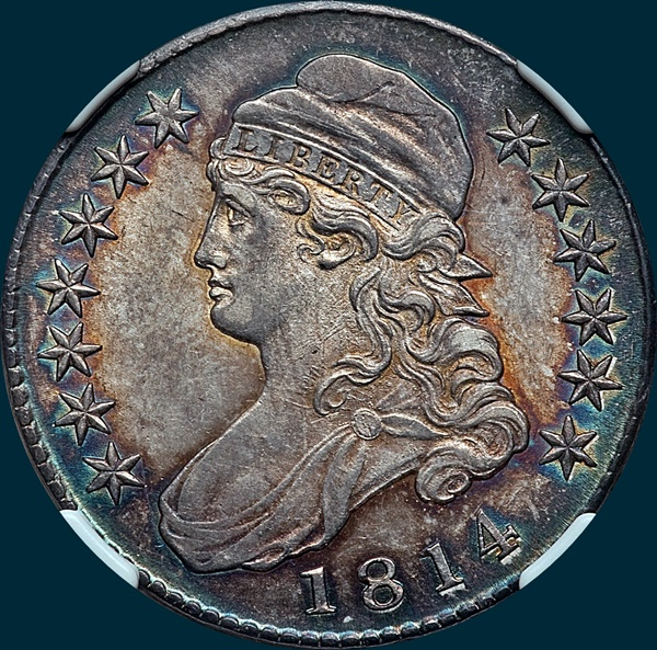 1814 O-102, Capped bust half dollar
