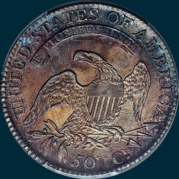 1813, O-101, R2, 50 C over UNI, Capped Bust, Half Dollar