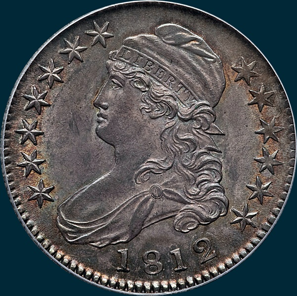 1812 o-107, capped bust half dollar