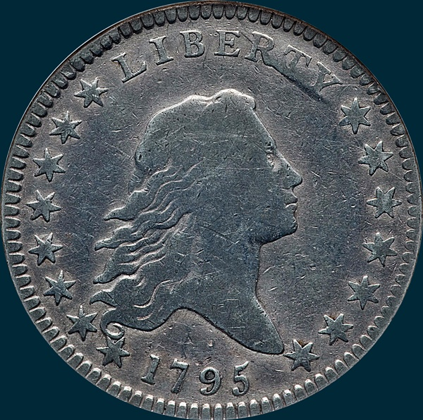 1795 O-132, Flowing Hair, Half Dollar