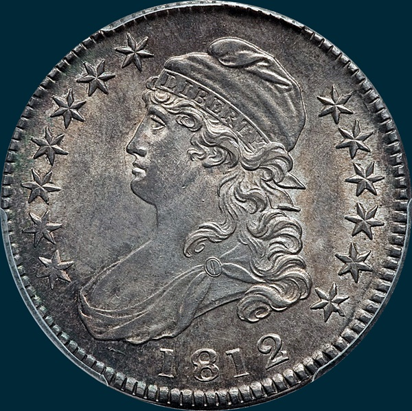 1812 o-104, capped bust half dollar