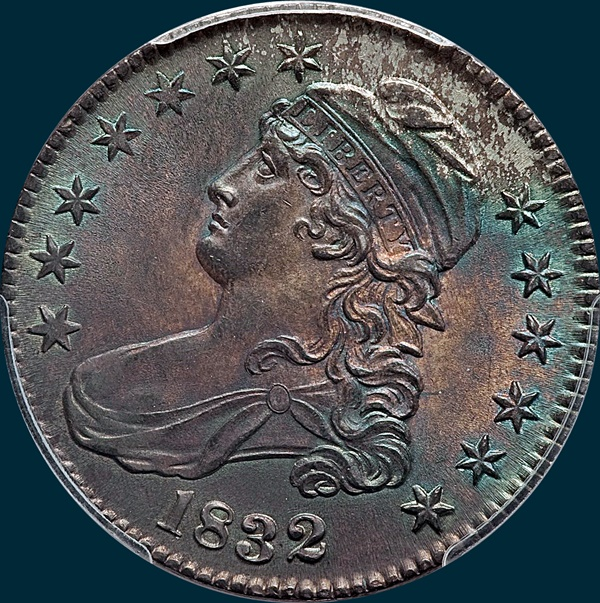 1832, O-115, Small Letters, Capped Bust, Half Dollar